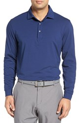 Bobby Jones Men's 'Liquid Cotton' Long Sleeve Jersey Polo Summer Navy