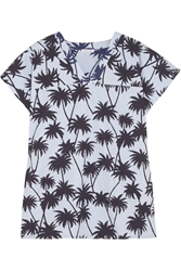 Tomas Maier Printed Cotton Poplin Top