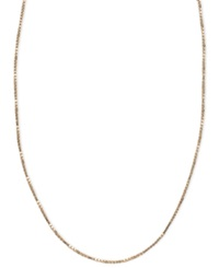 Macy's 14K Pink Gold Necklace 16 20' Box Chain