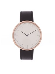Mmt C 31S Gold Plated And Leather Watch