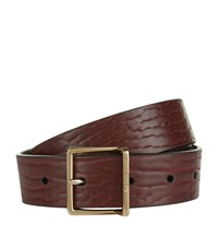 Paul Smith Accessories Textured Leather Belt Unisex Burgundy