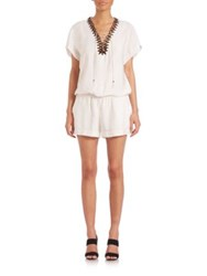 Twelfth St. By Cynthia Vincent Lace Up Short Jumpsuit