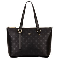 Nica Nova Zip Top Shoulder Bag Black Polka