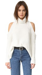 J.O.A. Cold Shoulder Sweater Ivory