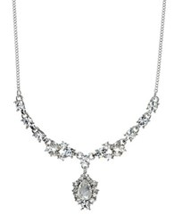 Givenchy Austrian Crystal Silvertone Y Necklace