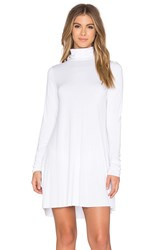 Michael Lauren Leo Turtleneck Mini Dress White