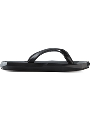 Julius Geometric Sole Flip Flops Black