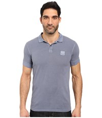 Boss Orange Pascha Slim Fit Saltwash Piquet Polo Light Blue Men's Short Sleeve Pullover