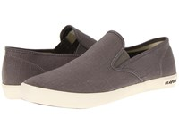 Seavees 02 64 Baja Slip On Standard Tin Grey Vintage Wash Linen Men's Shoes Gray