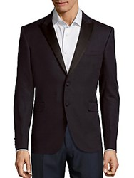 Burberry Long Sleeve Two Button Blazer Navy