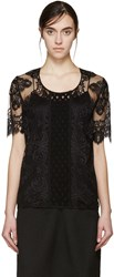 Burberry Black Lace Blouse