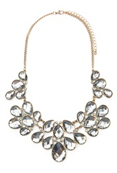 Forever 21 Faux Gemstone Statement Necklace Grey Antic.G