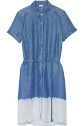 Splendid Sandollar Ombre Tencel Shirt Dress Blue