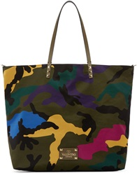 Valentino Multicolor Camouflage Medium Tote