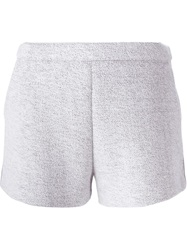T By Alexander Wang Side Zip Shorts White