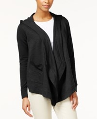 American Living Draped Hooded Cardigan Sweater