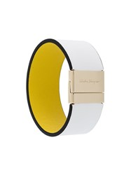 Salvatore Ferragamo Leather Cuff White