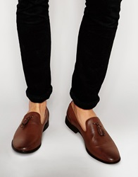 Asos Tassel Loafers In Tan
