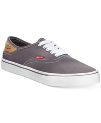 Levi's Jordy Sneakers Men's Shoes Charcoal White