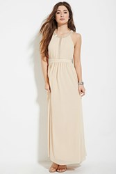 Forever 21 Beaded Maxi Dress Nude