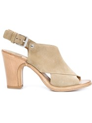 Buttero Buckled Crossed Sandals Nude And Neutrals