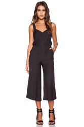 Greylin Cece Sweetheart Cullote Jumpsuit Black