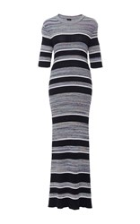 Joseph Elmore Midi Striped Sweater Dress