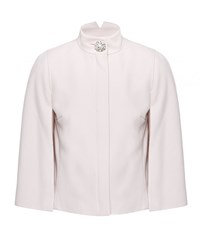 Ted Baker Igea Crystal Button Wool Blend Cape Nude