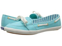 Keds Teacup Boat Seasonal Solid Aqua Women's Lace Up Casual Shoes Blue