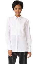 Dkny Pure Long Sleeve Tuxedo Shirt White