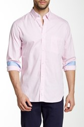 Tailorbyrd Long Sleeve Woven Gingham Shirt Pink