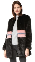 Shrimps Frederica Faux Fur Coat Black Rose Flint