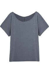 Bodyism Emma Off The Shoulder Stretch Jersey T Shirt Gray