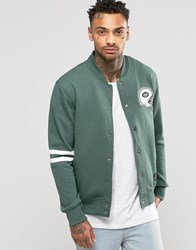Majestic Brooklyn Letterman Jacket Green