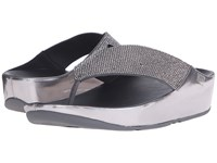 Fitflop Crystall Toe Post Pewter Women's Sandals