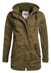 Superdry Rookie Military Parka Jacket Green