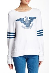 Wildfox Couture We The Brave Baggy Beach Jumper White