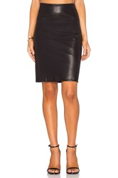 Gettingbacktosquareone Leather Pencil Skirt Black