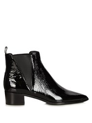Acne Studios Jensen Patent Leather Boots Black
