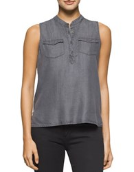 Calvin Klein Jeans Garment Dyed Tencel Tank Washed Black