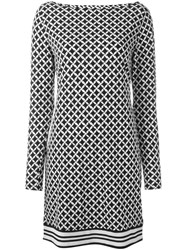 Michael Michael Kors Link Pattern Mini Dress Black