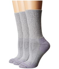 Carhartt Cotton Crew Work Socks 3 Pair Pack Heather Grey Women's Crew Cut Socks Shoes Gray