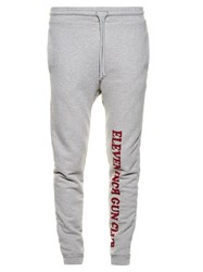 Vetements Gun Club Print Cotton Blend Jersey Track Pants Grey