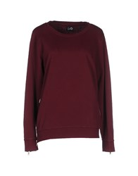 Cheap Monday Topwear Sweatshirts Women Maroon
