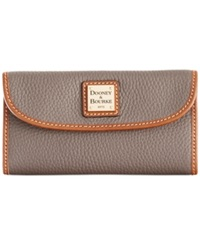 Dooney And Bourke Pebble Continental Clutch Elephant