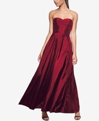 Fame And Partners Strapless Maxi Dress Burgundy