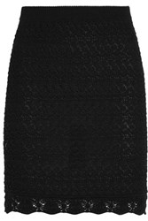 Isabel Marant Dwight Crocheted Cotton Mini Skirt Black