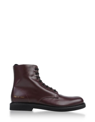 Common Projects Ankle Boots Maroon