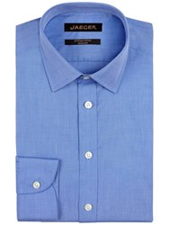Jaeger End On End Non Iron Regular Fit Shirt Blue
