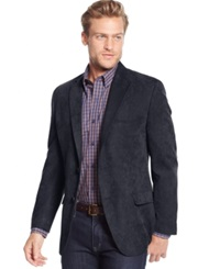 Tasso Elba Classic Fit Microsuede Sport Coat Only At Macy's Navy